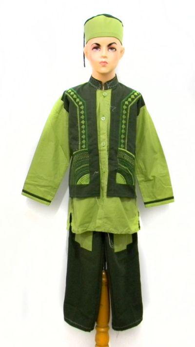 model-baju-setelan-koko-anak-hijau