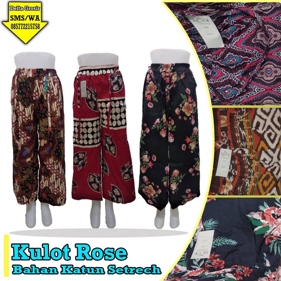 Konveksi Celana Kulot Rose Dewasa Murah di Surabaya
