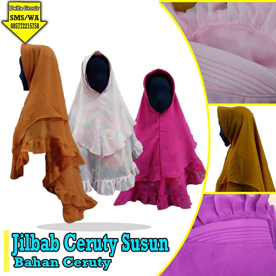 Pabrik Jilbab Ceruti Susun Dewasa Murah di Surabaya