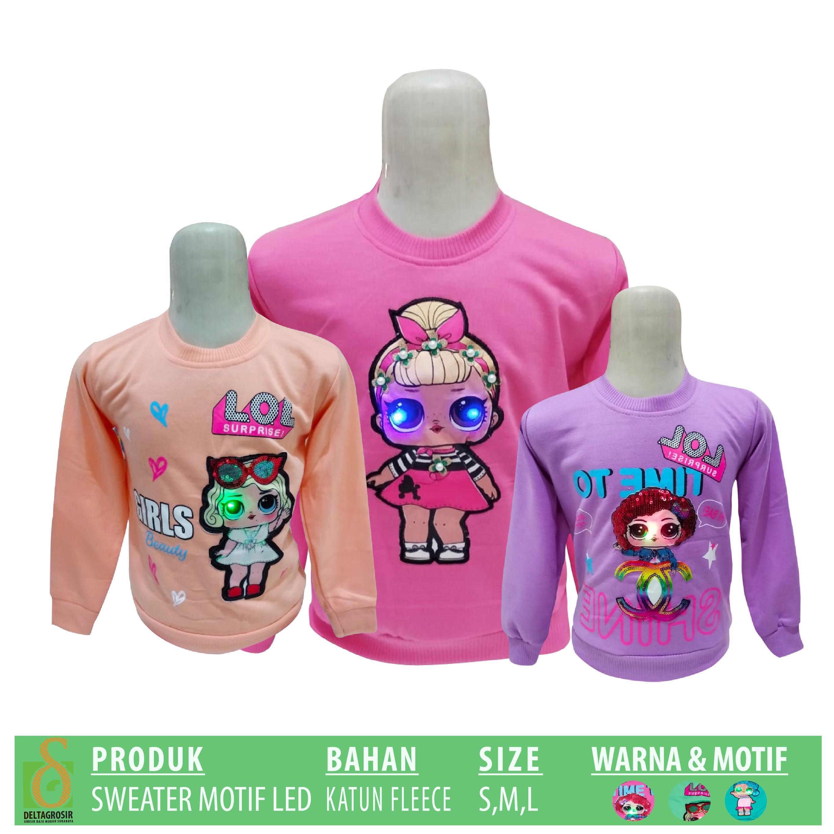 Produsen Sweater Motif LED Murah di Surabaya